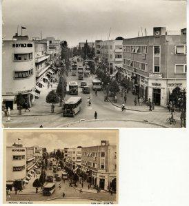 צילום של רחוב אלנבי בתל-אביב  והגלויה