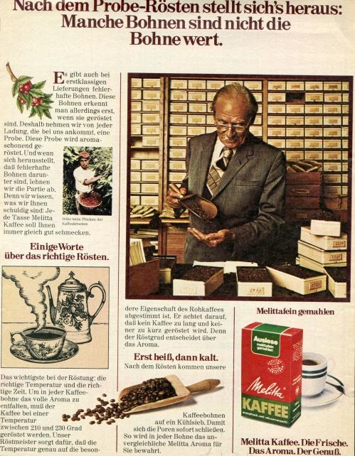 פרסומת לקפה MELLITTA STERN 7 אוקטובר 1976
