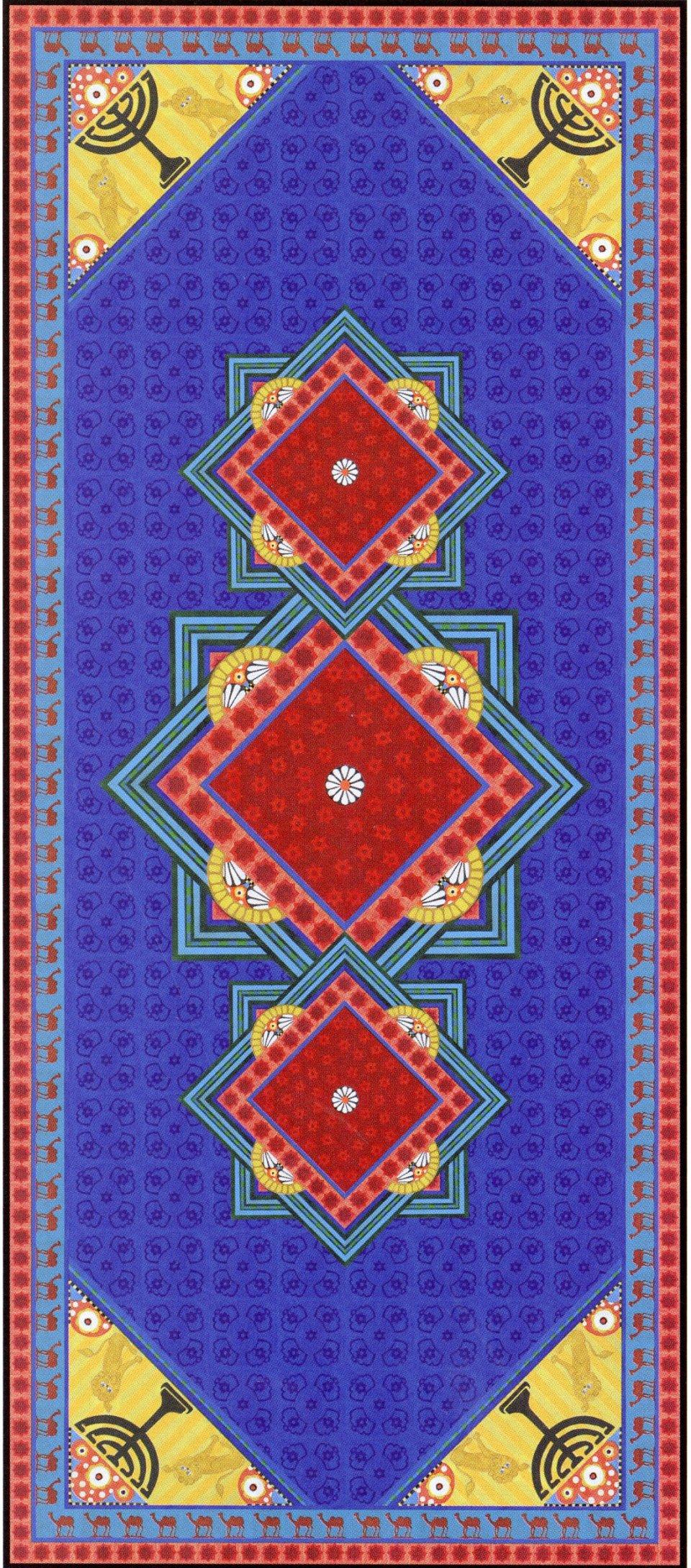 הדפס על לינולאום אליהו אריק בוקובזה השטיח 2014 קטלוג מרבדים מדברים